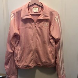 Adidas pink zip up jacket. Like new condition!